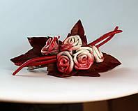 Заколка розовые розы, фото 1