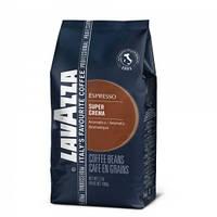 Кофе Lavazza Super Crema в зернах 1 кг, Лавацца Супер Крема уп. зерно 1 кг.