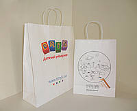 Пакеты бумажные из крафта с полноцветной печатью, фото 1