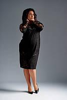 Платье замшевое черное нарядное 23514, фото 1