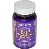 Витамин В 12 , MRM, метилкаболамин , 2000 мкг, 60 сублингвальных леденцов