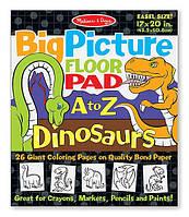 Гигантская раскраска с динозаврами Английский алфавит Melissa & Doug (MD19111)