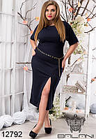 Элегантное  платье Женское качественное красивое, удобное   с  вырезом  -  12792  рр  48 50 52 54