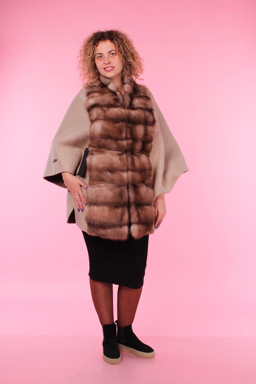 Пальто из альпака с мехом куницы - С иголочки - Интернет-магазин одежных  тканей в 793539c3d07ea