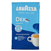 Кофе молотый без кофеина Lavazza Dek Gusto Classico 250г.