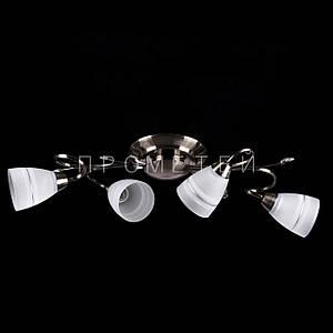 Люстра на 4 лампочки (антична бронза). P3-2642/4C/AB+WT