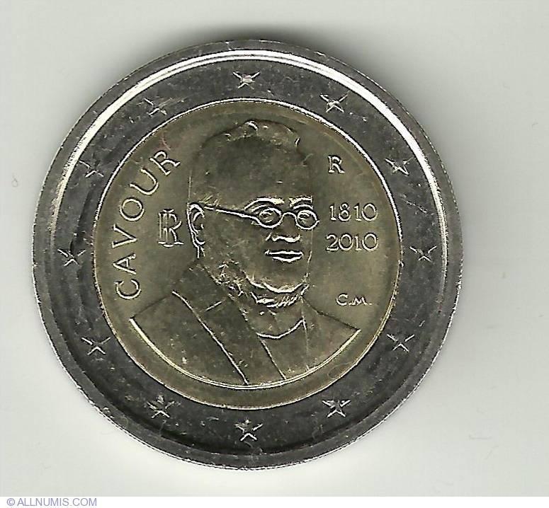 2 евро 2010 Италия - 200 лет со дня рождения Камилло Кавура