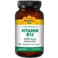 Витамин В 12, Country Life 1000 мкг, 60 таблеток