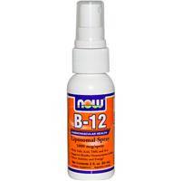 Витамин В 12, Now Foods, липосомный спрей, 60 мл