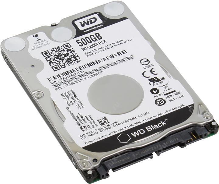 "Жесткий диск Western Digital Black 500GB 7200rpm 32MB WD5000LPLX 2.5 SATA III  ""Over-Stock"""