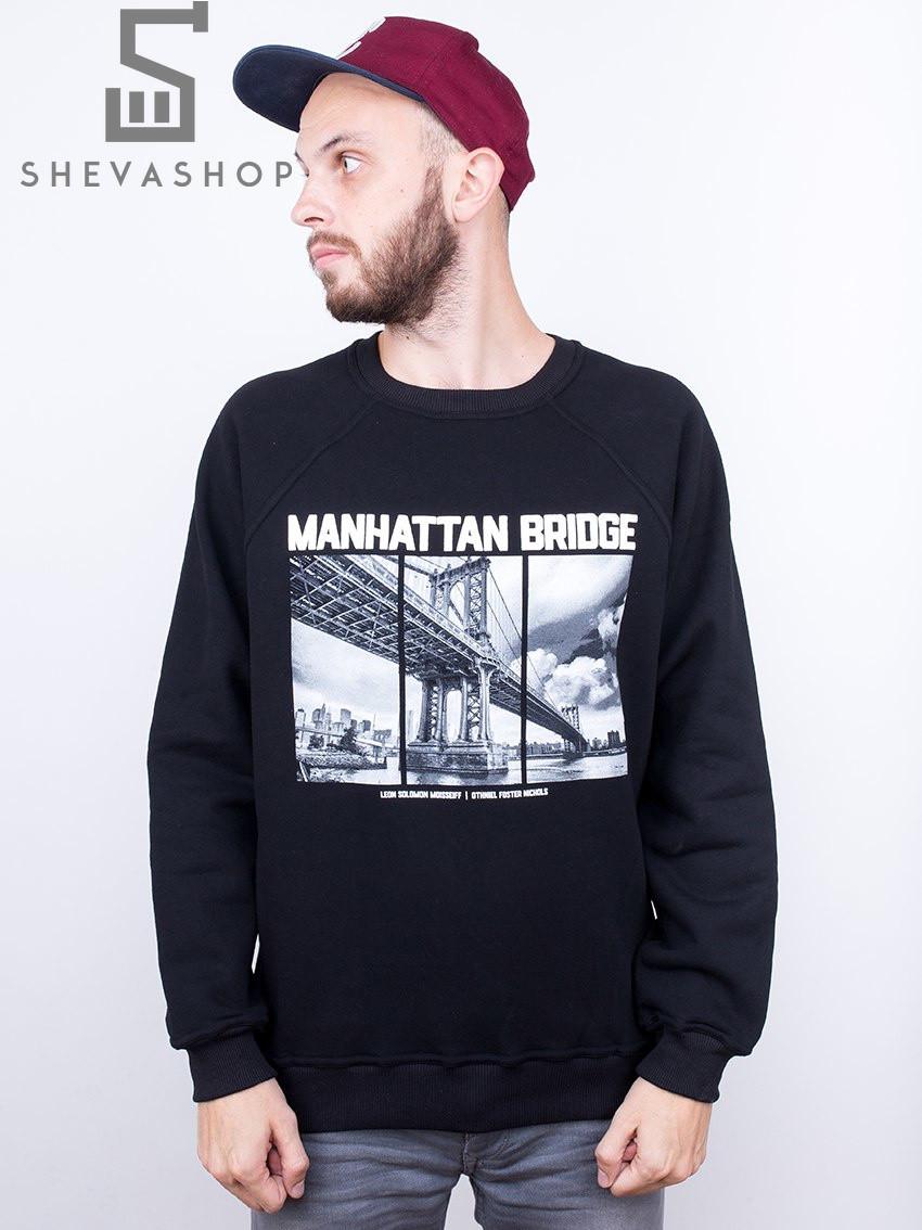 Свитшот Liberty - Manhattan bridge Black