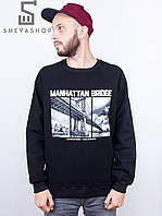 Свитшот Liberty - Manhattan bridge, Black, фото 1