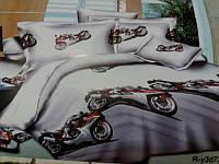 """Детское постельное белье """"мотоцикл на белом"""""""