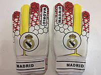 Перчатки вратарские детские REAL MADRID р.7,8 с защитой пальцев красные