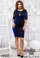 Стильное облегающее женское платье, модное, красивое, удобное  - 18565 р-р S   M   L   XL