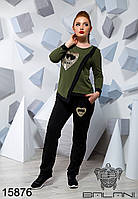 Женский удобный модный качественный Спортивный костюм большие размеры  - 15876 р-р 48 50 52 54