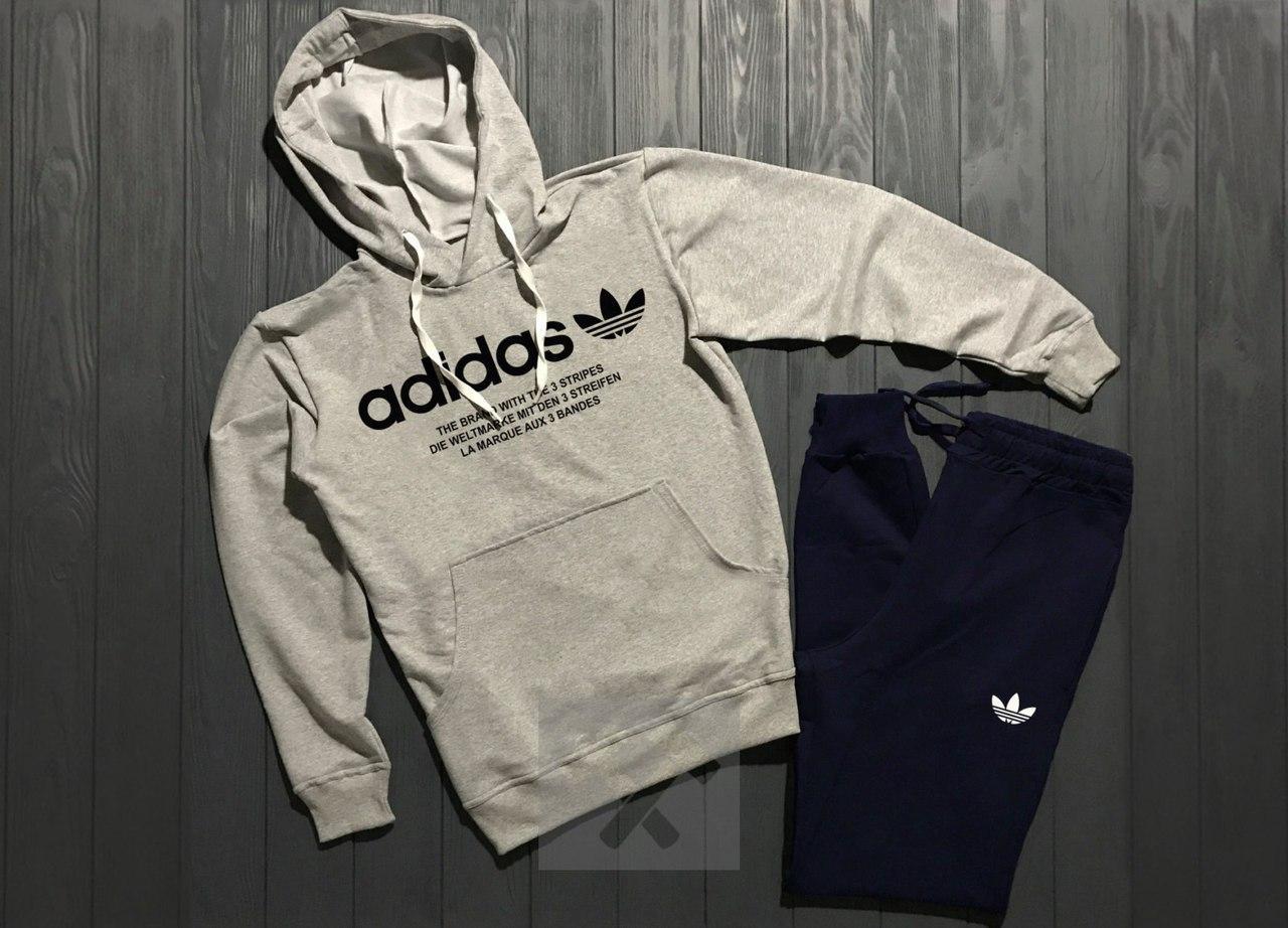 Весенний костюм спортивный Adidas с капюшоном топ реплика