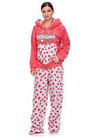 Женская зимняя махровая пижама