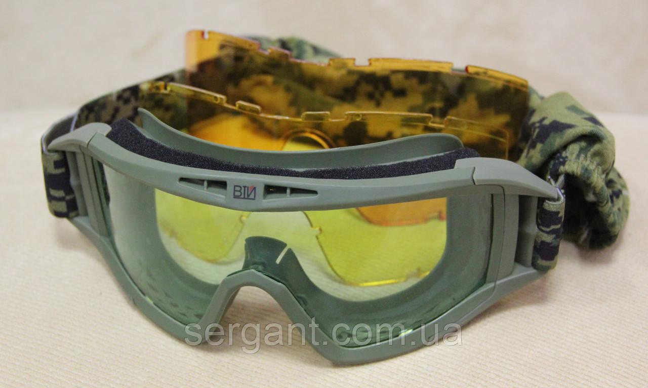 Тактические стрелковые баллистические очки-маска «Вий-ЭКИПАЖ».