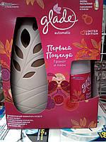 Освежитель воздуха автомат Glade Первый поцелуй (гранат и пион)