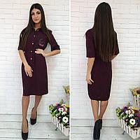 Платье, ткань лён, платье миди с вышивкой, красивое женское платье средней длины. разные цвета и размеры., фото 1