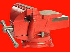 Intertool HT-0053 слесарные чугунные тиски для зажима деталей 150мм