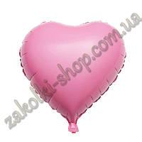 Фольгированные воздушные шары, форма:сердце, цвет: розовый(пастельный), 18 дюймов/45 см, 1 штука