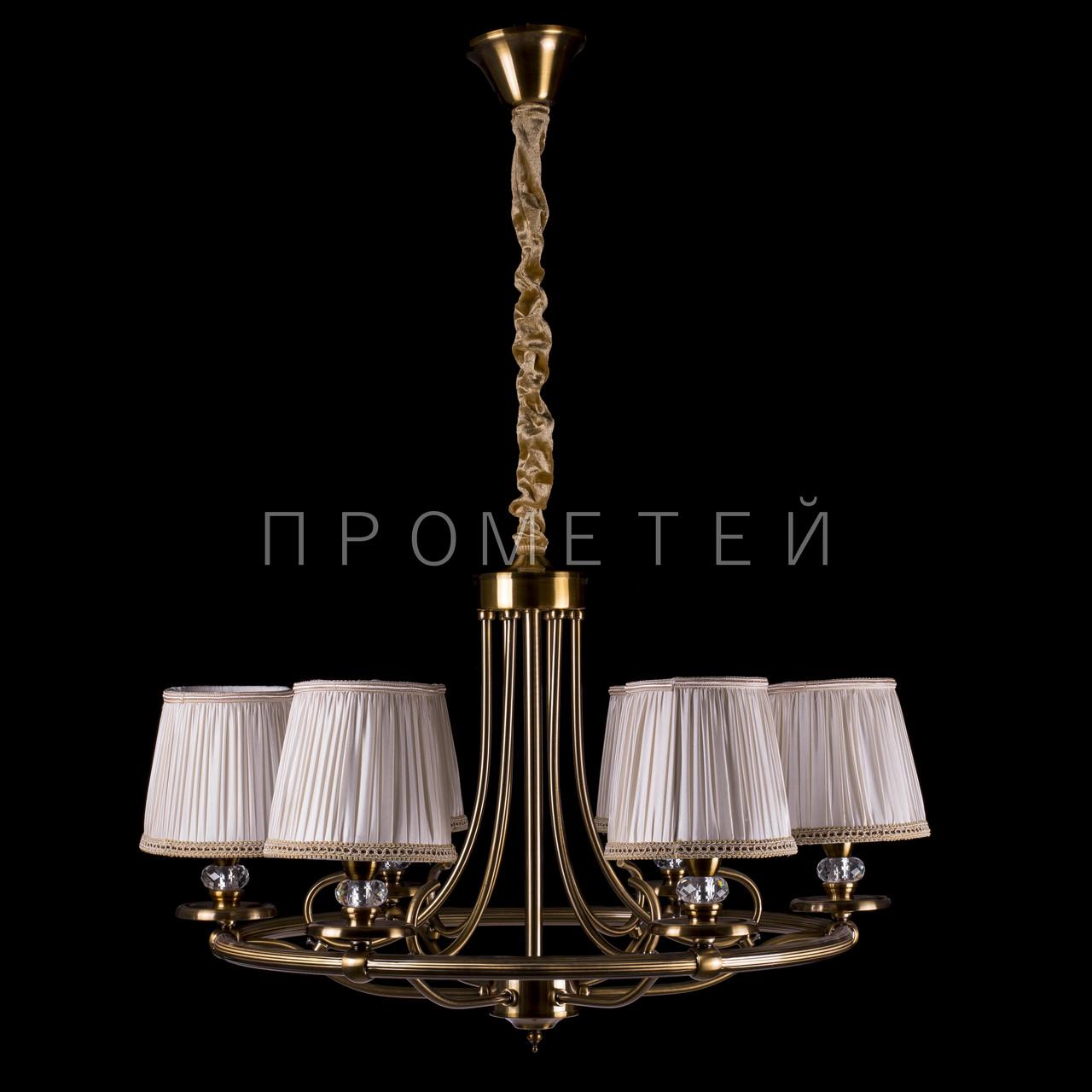 Люстра классическая на 6 лампочек (золотая бронза). P13-RM0425/6/GAB