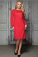 Платье вечернее с гипюром Криста р 50-58