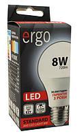 Лампа led 8Вт 4100K E27 A60 220В 720Lm Ergo