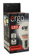 Лампа led 6Вт 4100K E27 G45 220В 540Lm Ergo