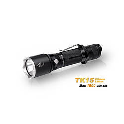 Ліхтар Fenix TK15UE2016bk (1000 lum, 1* 18650 / 2*CR123A ) (TK15UE2016bk)