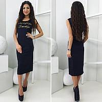 Платье Feel, ткань масло, лёгкое женское платье длины миди. Разные размеры., фото 1