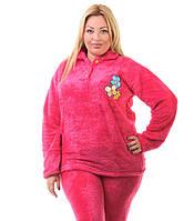 Женская махровая пижама большого размера