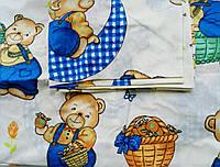 Простынь на резинке в детскую кроватку 120*60