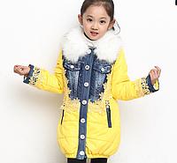 Зимнее пальто-пуховик на девочку Д 0625-И