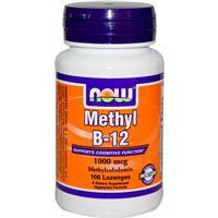 Витамин В12, Now Foods, метилкаболамин, 1000 мкг, 100 леденцов