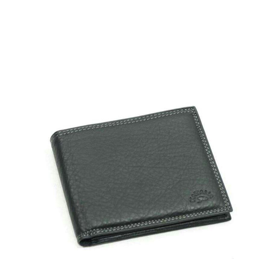Чоловічий гаманець з натуральної шкіри чорний катана 753014