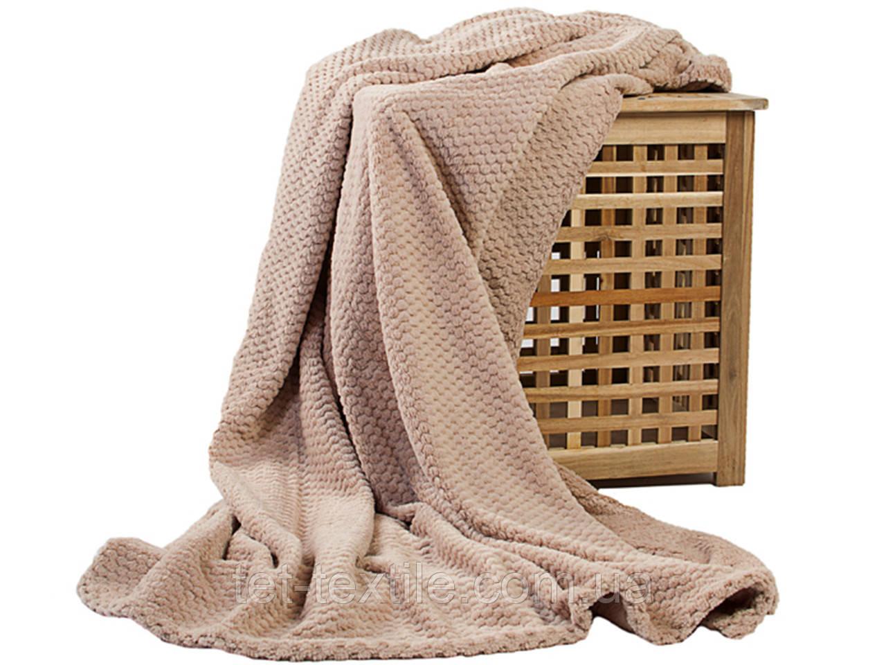 Плед из бамбукового волокна Koloco бежевый (180х220)