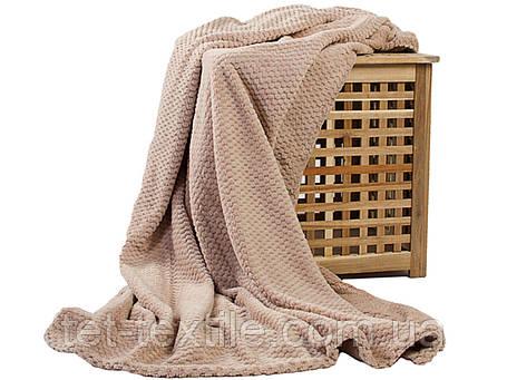 Плед из бамбукового волокна Koloco бежевый (180х220), фото 2