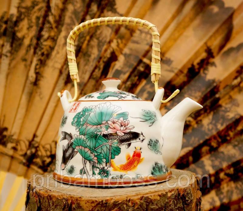 """Чайник - заварник """"Тибет"""" фаянс 900мл."""