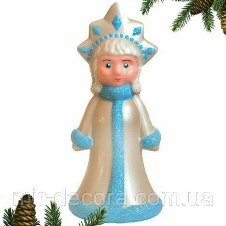 """Пластиковая формовая игрушка """"Снегурочка под ёлку"""""""
