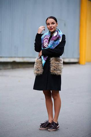 Кашемировое пальто с меховыми карманами, фото 2