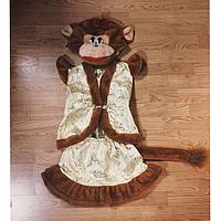 """Детский карнавальный костюм """"Мартышка"""" мех+парча, фото 1"""