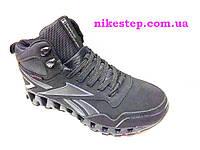 Зимние мужские кроссовки+ботинки Reebok черные на меху