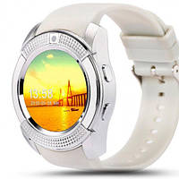 Смарт-часы UWatch V8 белый часофон