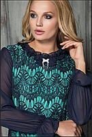 Платье вечернее с гипюром Дакар р 50-60