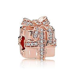 Шарм Сверкающий подарок в стиле Pandora Rose