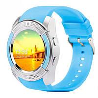 Смарт-часы UWatch V8 синий часофон