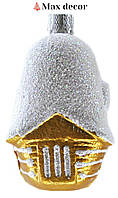 """Пластиковая формовая игрушка """"Домик блестящая крыша"""" (высота 7 см.)"""